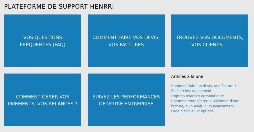 Plateforme de support Henrri