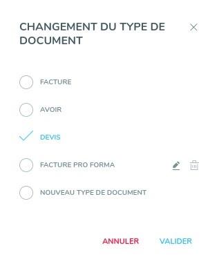 Choix du type de document Henrri