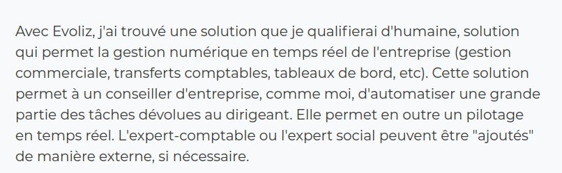 Avis de Jean-Noël Hennebique, Dirigeant chez CONFOR evoliz