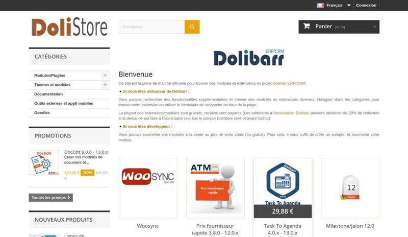 DoliStore, la boutique d'extensions de Dolibarr
