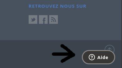 Le menu aide en bas de l'interface MaTPE