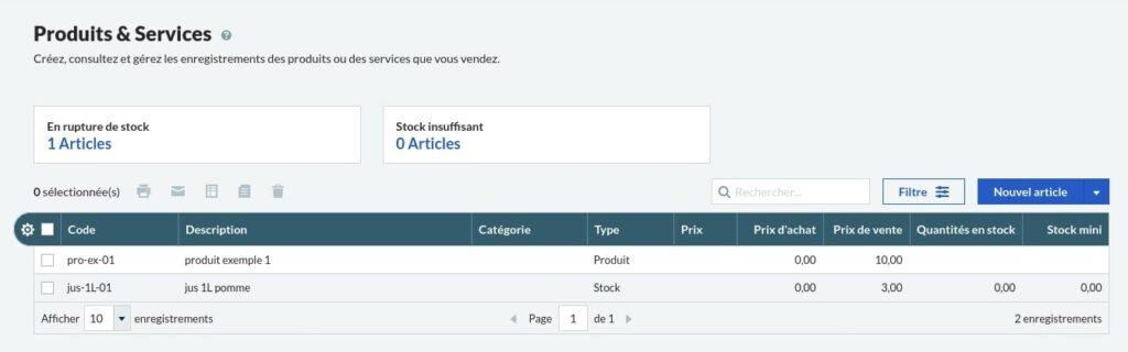Menu des produits et services Sage Business Cloud Compta et Facturation