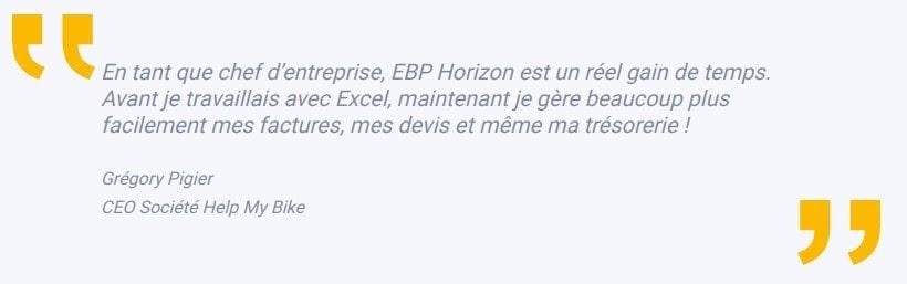 Témoignage de Grégory Pigier, PDG de la société Help My Bike EBP Horizon
