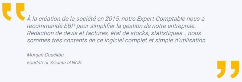 Témoignage de Morgan Gouelibo, fondateur de la société IANOS EBP Horizon
